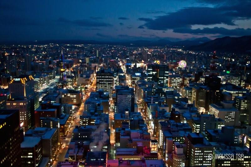 Sapporo om natten