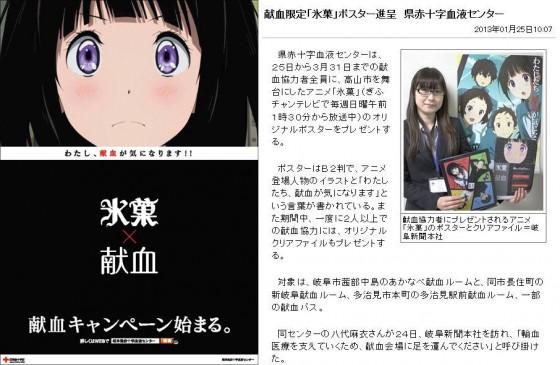 Doner blod i Gifu og få Hyouka ting