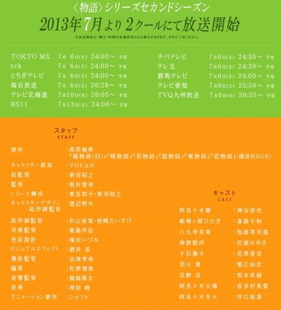 "Haruna Luna synger slutsangen til ""Monogatari Series 2nd Season"""