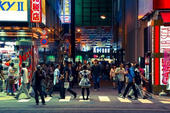 Folk i Akihabara
