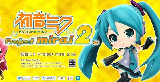 Hatsune Miku Project Mirai 2 udgivelsesdato