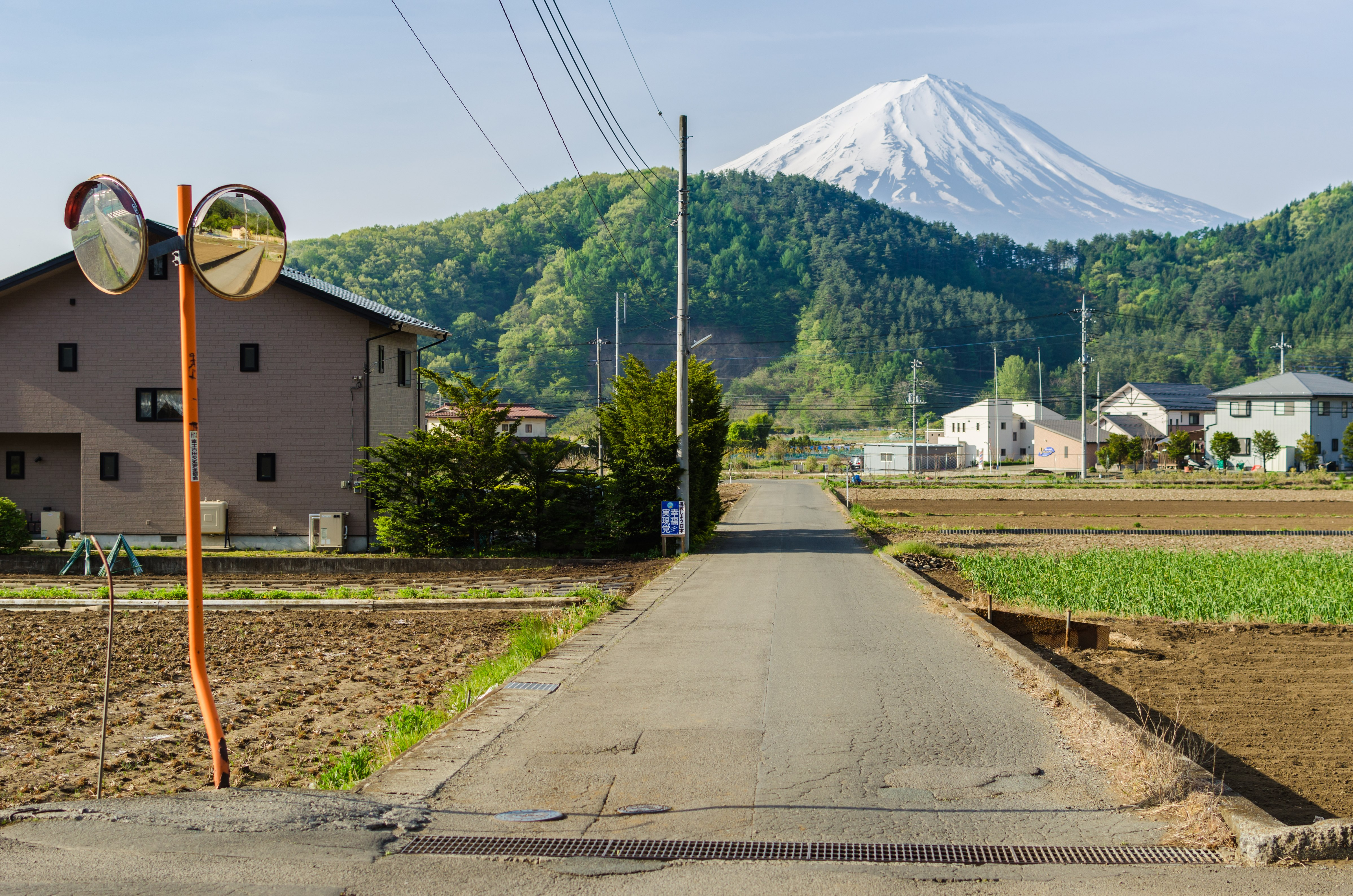 Landvej mod Mount Fuji