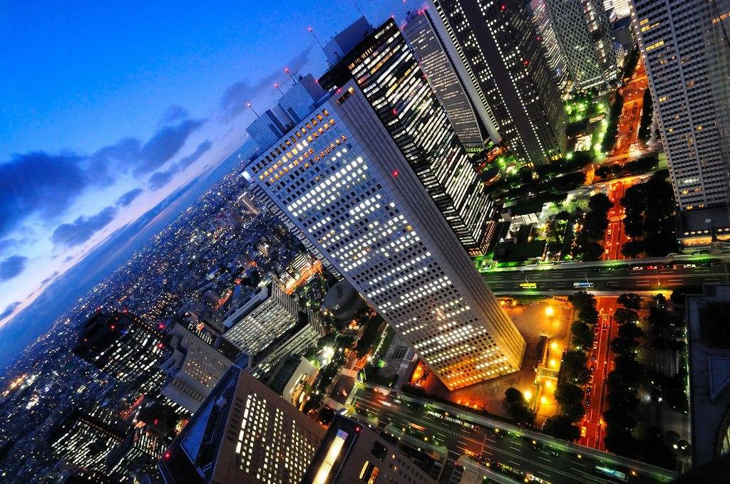 Solnedgang over Shinjuku