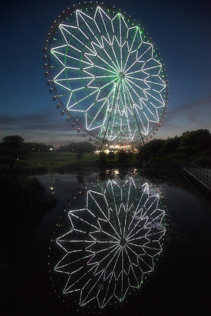 Diamant og blomst pariserhjulet i Kasai Rinkai parken