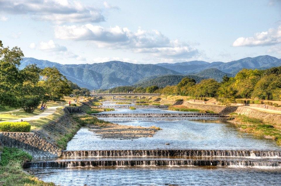 Kamogawa floden