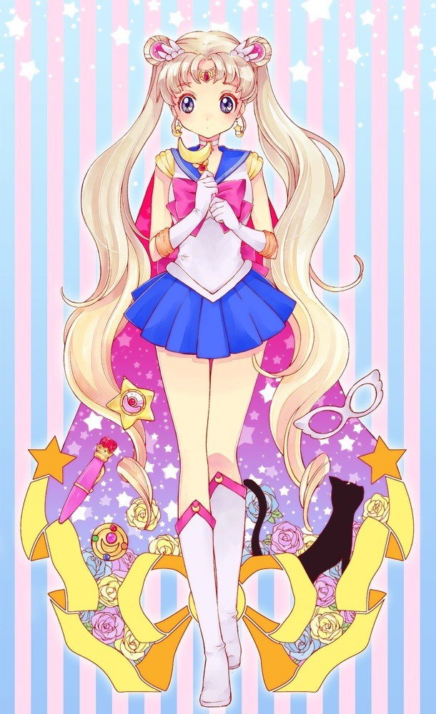 Ugens mobil-wallpaper: Sailor Moon