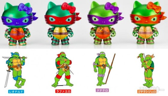Hello Kitty x Teenage Mutant Ninja Turtles