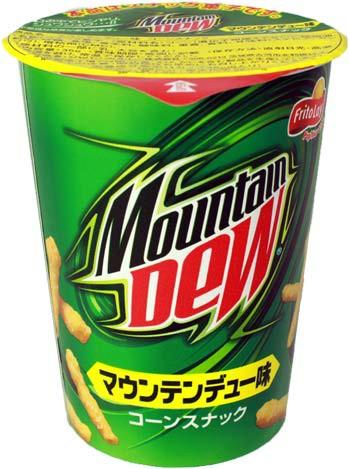 Cheetos med  Mountain Dew smag