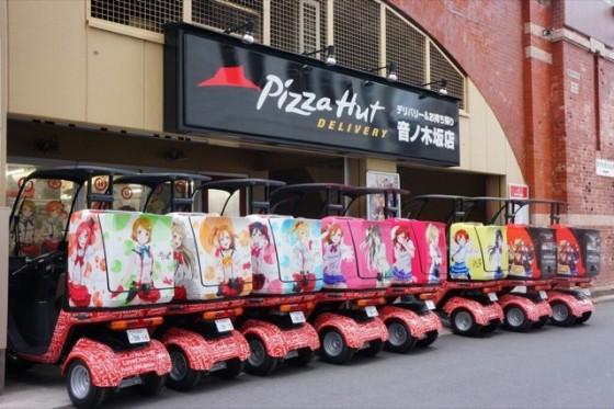 Love Live! samarbejde med Pizza Hut