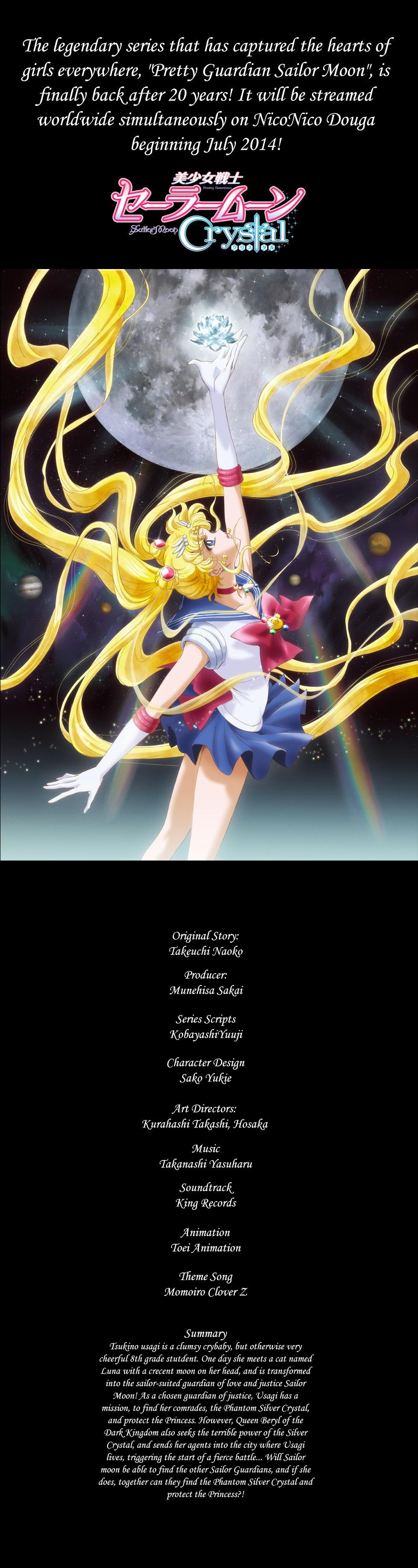 """Første nøgle-billede og beskrivelse af """"Sailor Moon Crystal"""""""
