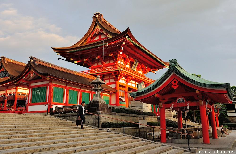 De røde porte ved Fushimi Inari