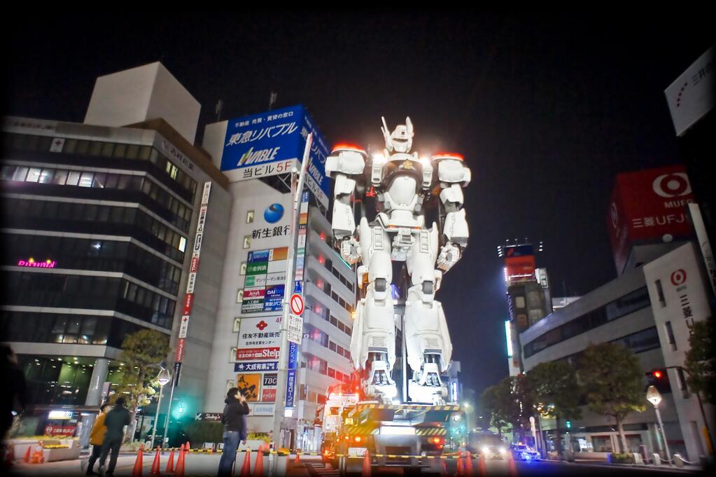 Kæmpe Patlabor Ingram invaderer Tokyos gader