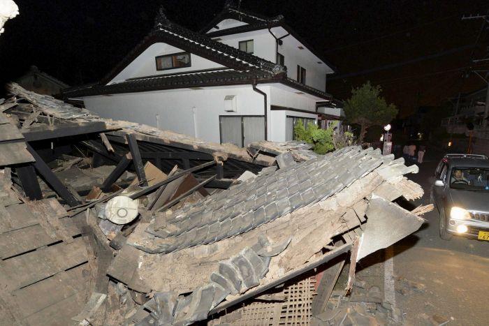Et andet kraftigt jordskælv rammer Kumamoto