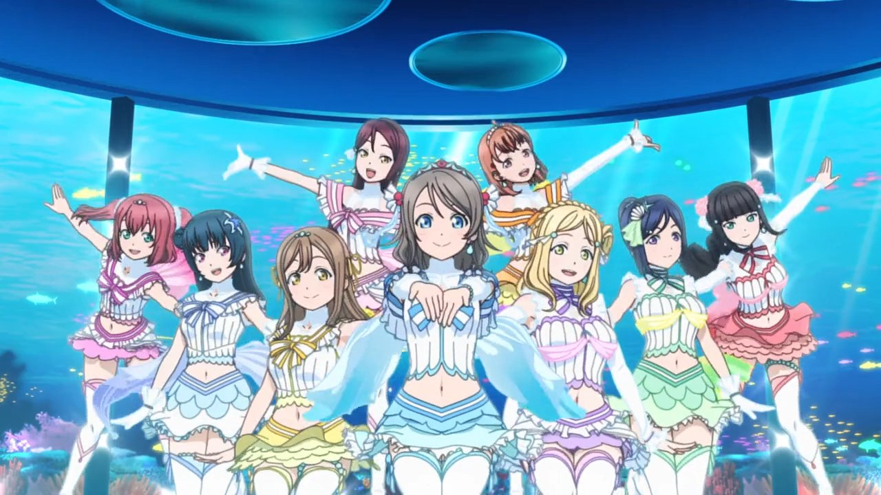"Love Live! Sunshine!! – Aqours ""Koi ni Naritai Aquarium"" musik video"