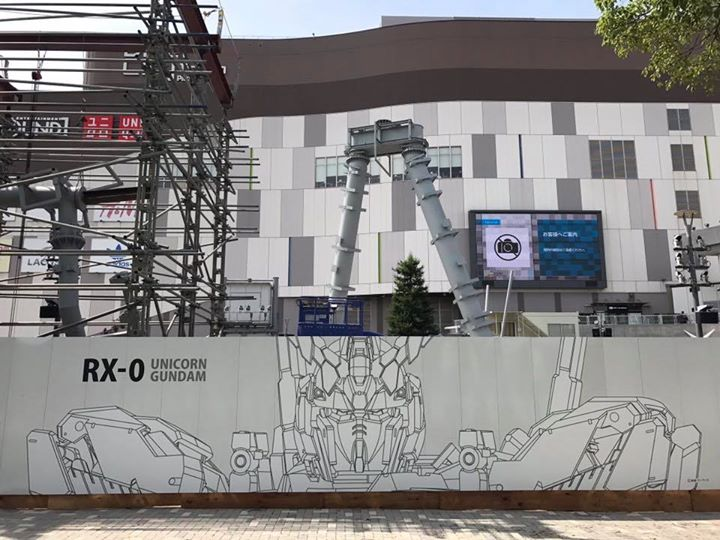 Ny Gundam statue under opbygning