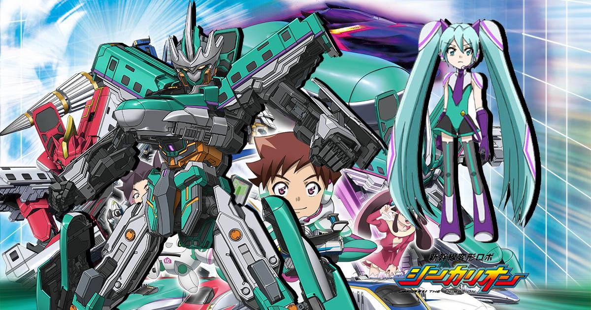 Hatsune Miku Korer Hurtig Tog Tranformerende Robot I Shinkansen Henkei Robo Shinkalion TV Anime