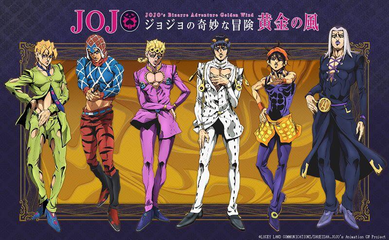 Jojo's Bizarre Adventure Part 5: Golden Wind manga kommer som TV anime til oktober