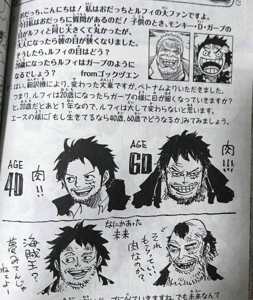 Eiichiro Oda tegner One Pieces Luffy som ældre