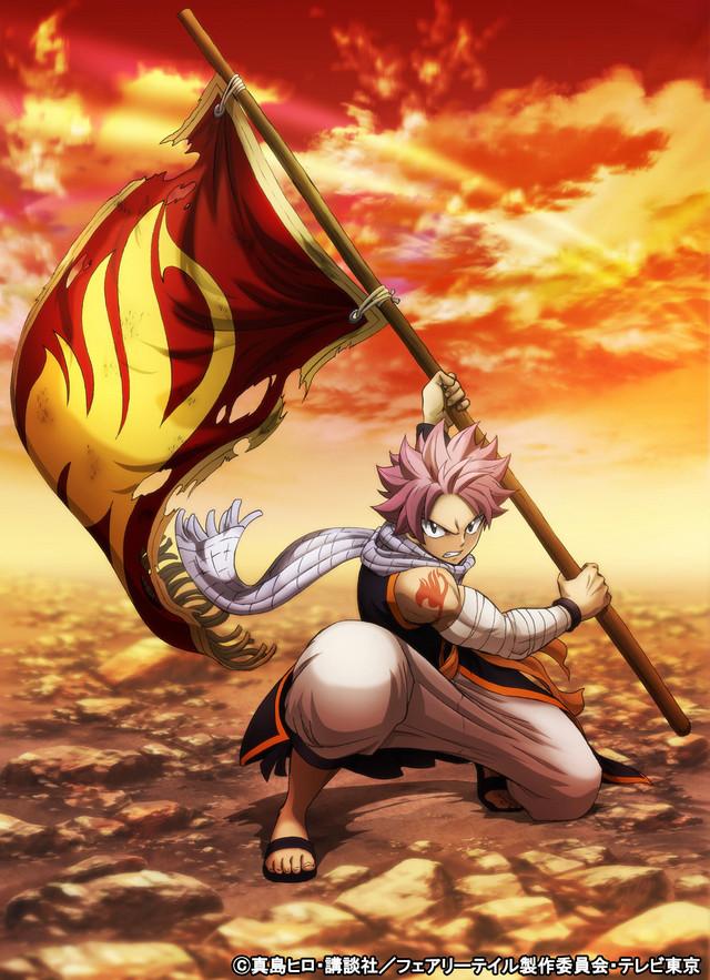 Fairy Tail anime afsluttenede sæson billede og oktober premiere