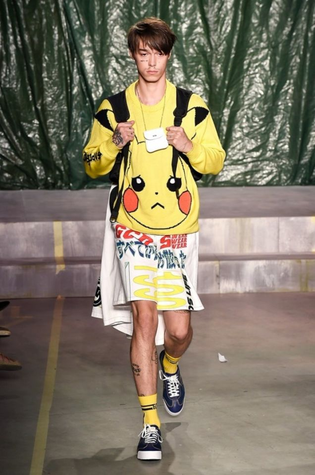 Pokémon blev fremvist på Milan Fashion Week