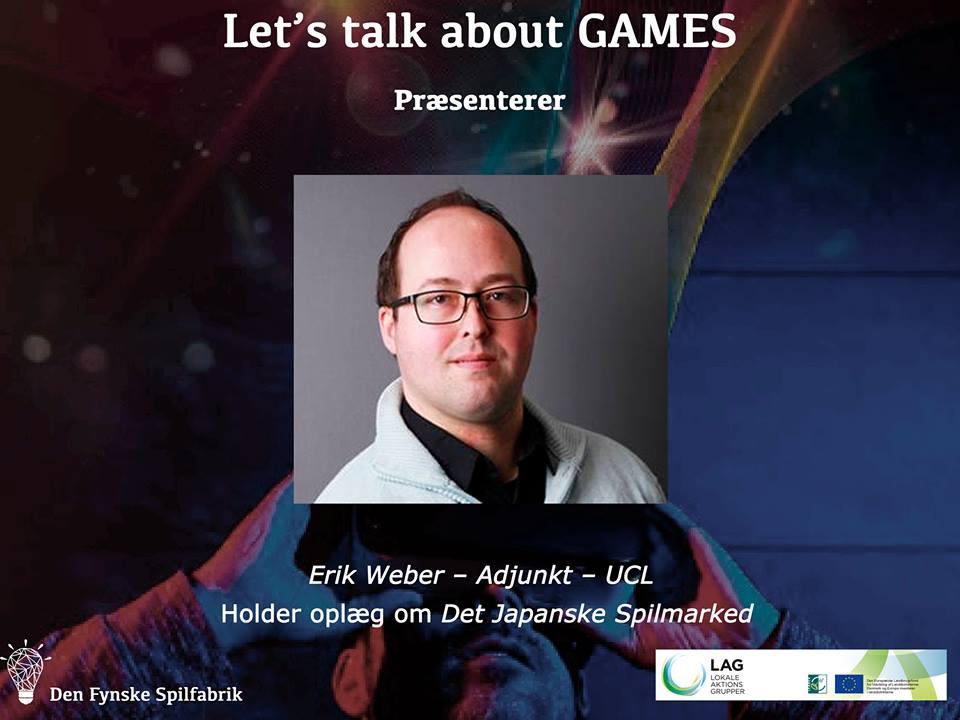 Foredrag om japanske spil på Den Fynske Spilfabrik den 12/10