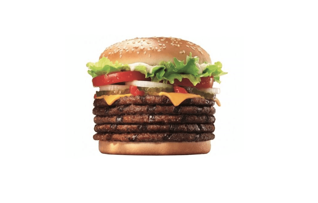 Burger King Japan får en burger med fem bøffer