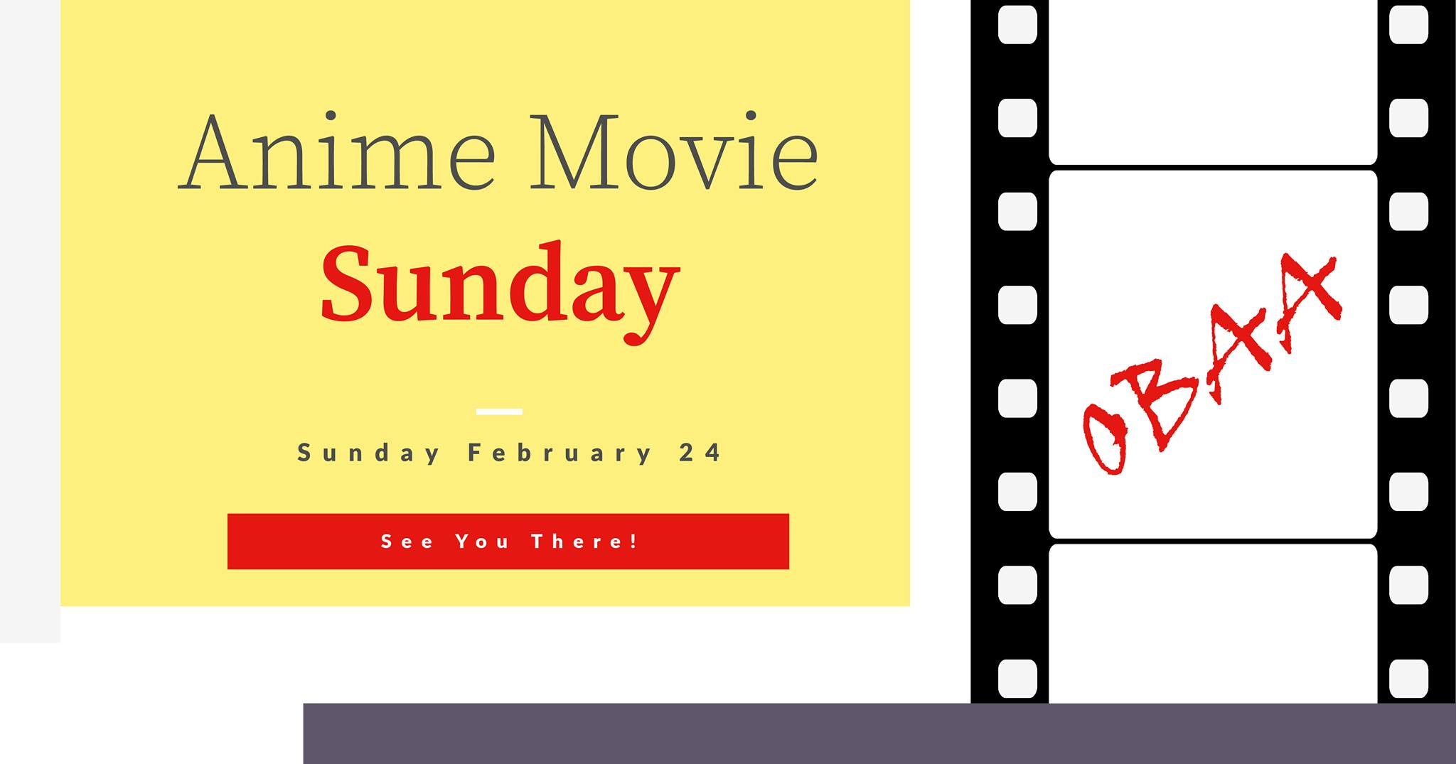 Søndag 24 februar 2019 - Anime Movie Sunday