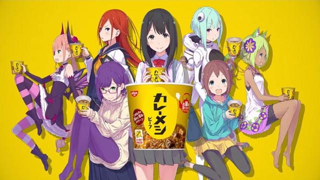 Nissin Curry anime reklame lavet af tegneren bag Re:Zero