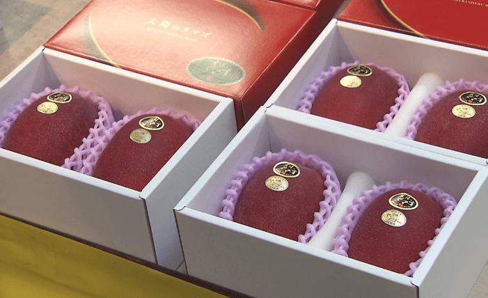 To mangoer solgt for halv million yen til årets første auktion