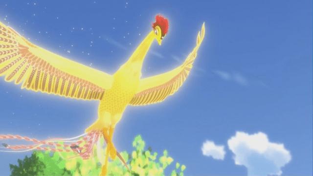 Osamu Tezukas legendariske Phoenix reklamerer for varme kilder
