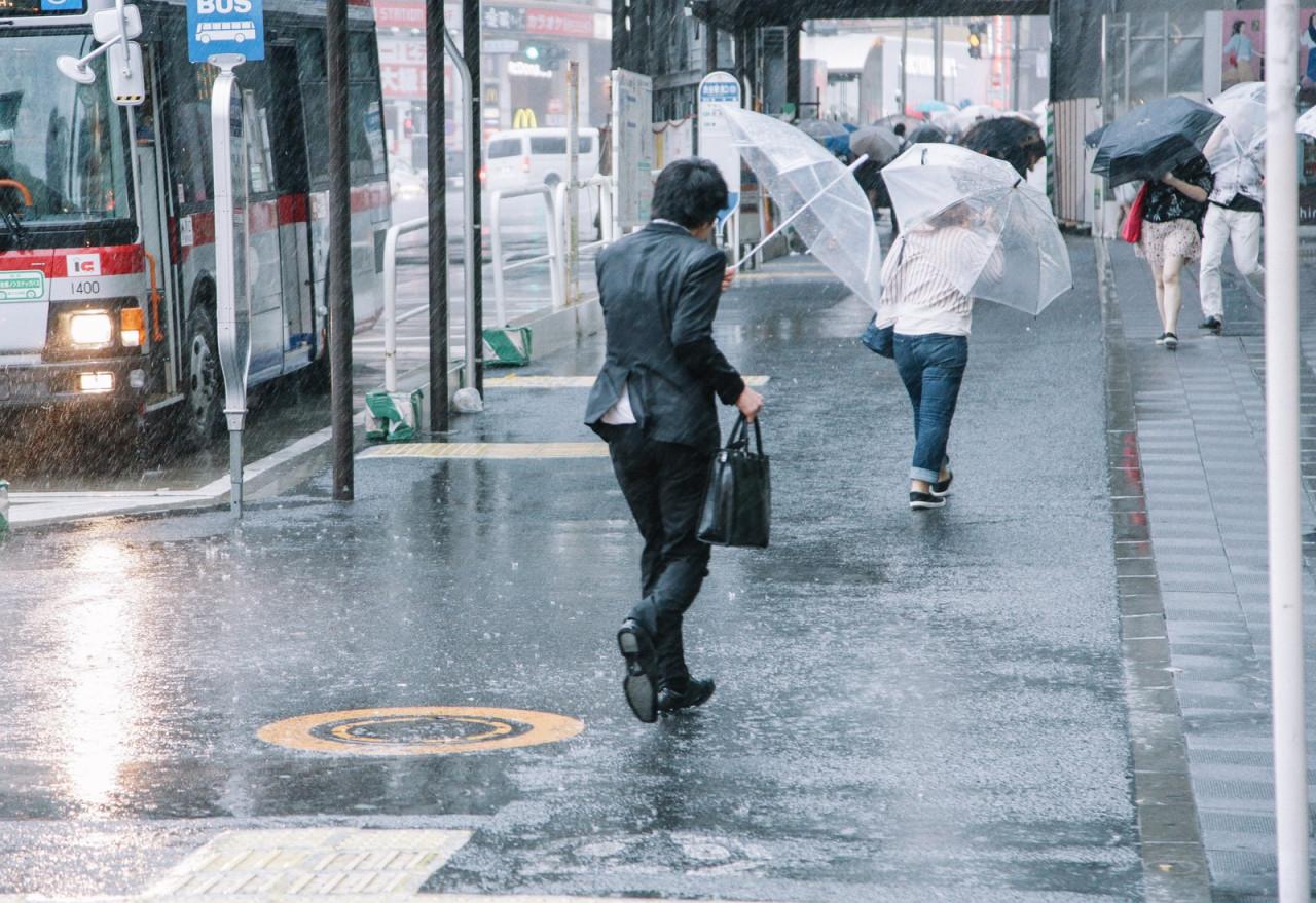 Hanada Airport (Tokyo) er et af områderne der blev skadet af det voldsomme vejr