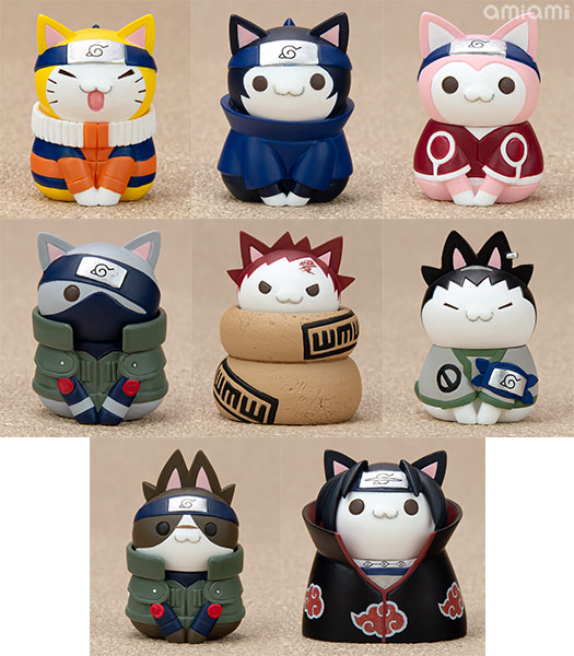Nyaruto! NARUTO Konoha's Cheerful Cats Part 8Pack BOX