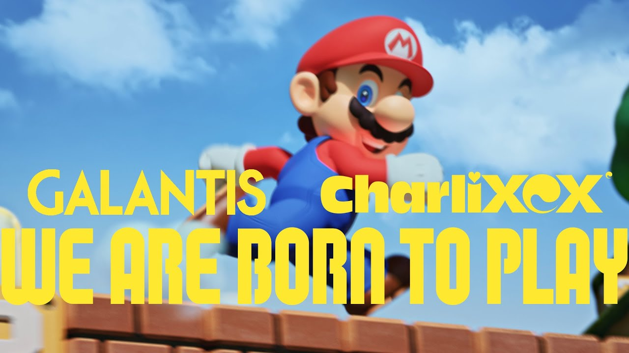 Super Nintendo World tema park område fremvist i musik video med Galantis, Charli XCX