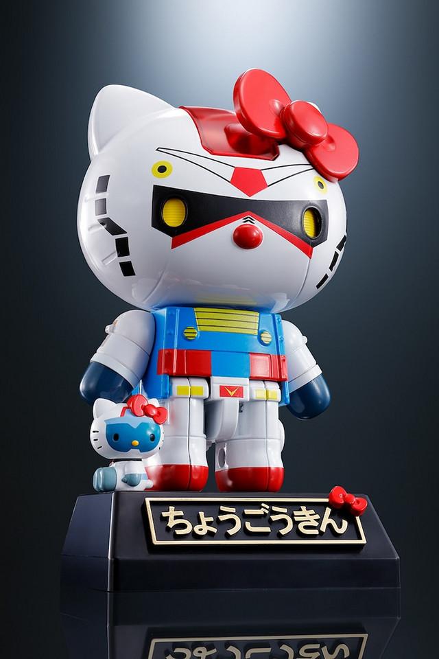 Hello Kitty x Gundam venskabsfigurer