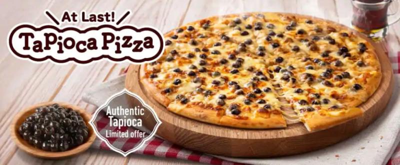 Dominos Japan laver bubble tea pizza