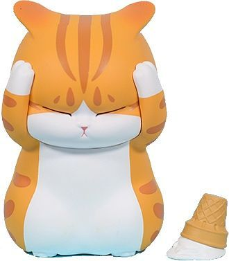 Distressed Cats Series Soft Vinyl Coin Bank Red Tabby Cat