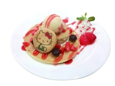 Hello Kitty's Strawberry Pancake (1400 yen)