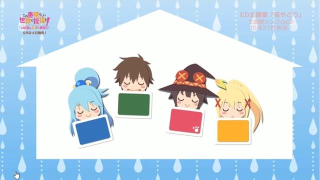 KONOSUBA PS4/Switch spil afslutnings sang
