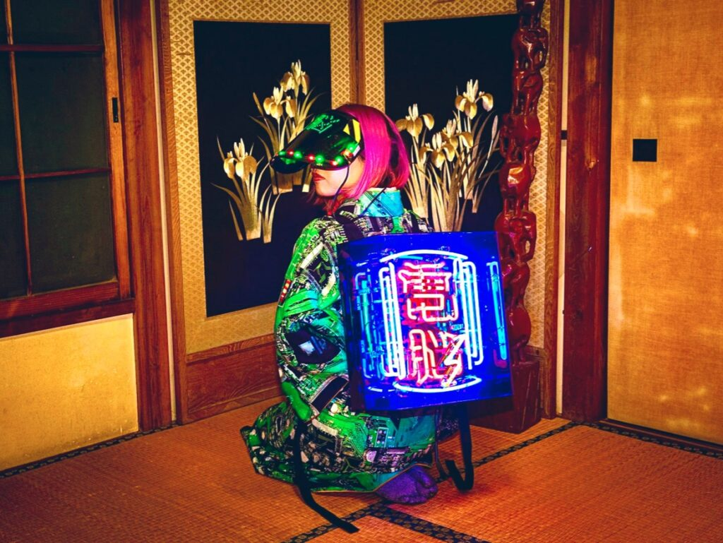 Cyberpunk kimonoer i Akihabara