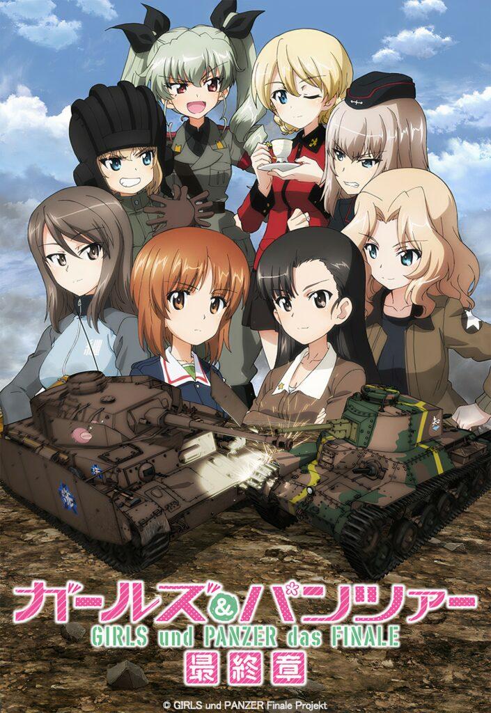 3die Girls & Panzer das Finale anime film trailer og info