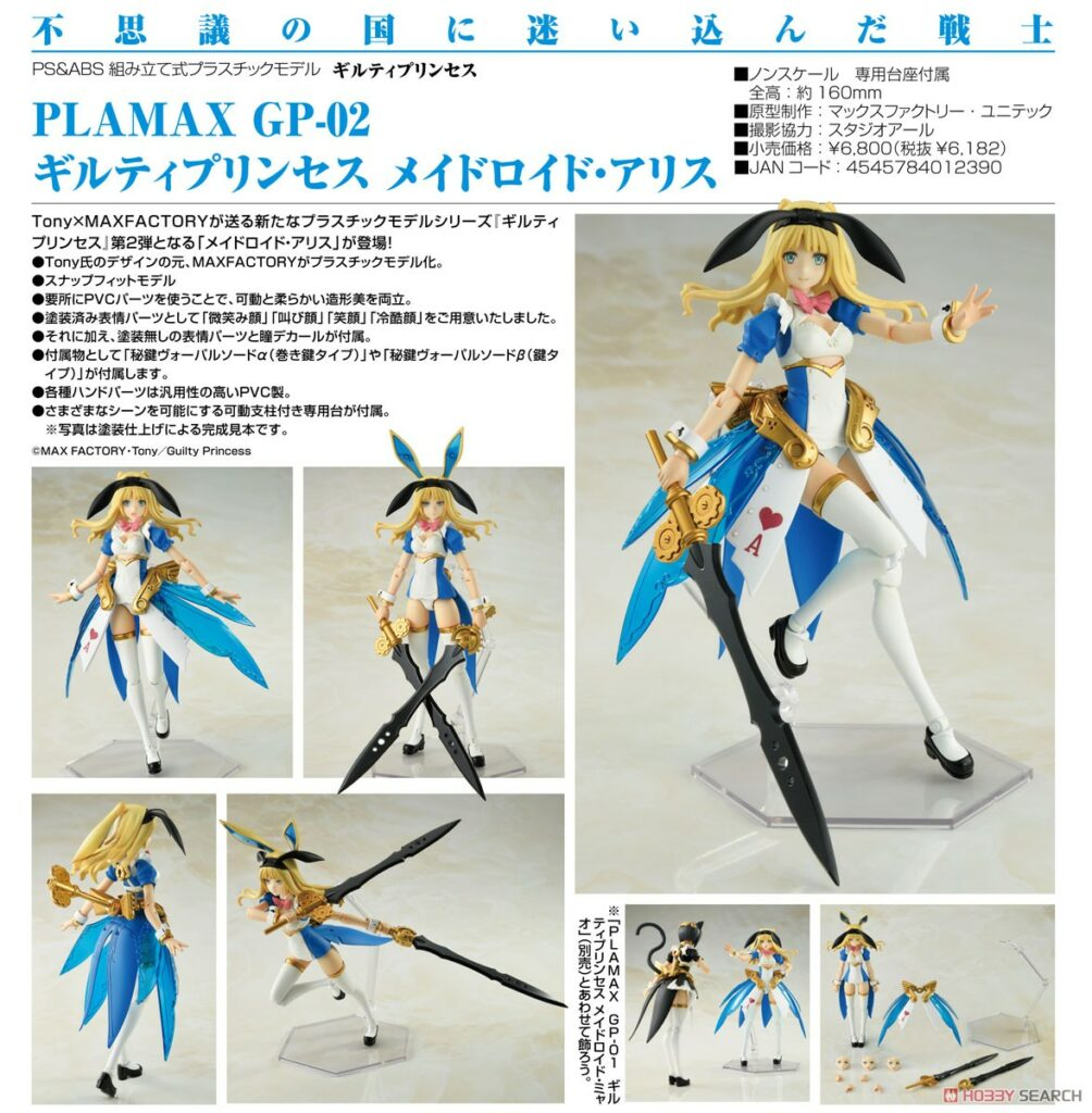 PLAMAX GP-02 Guilty Princess Maidroid Alice