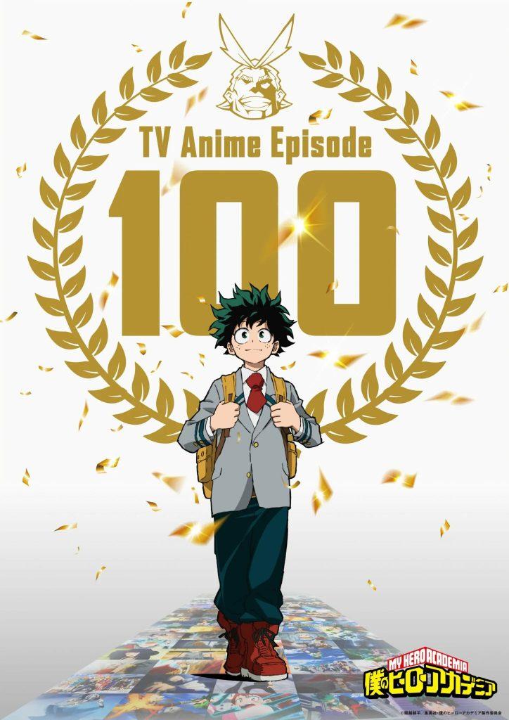 My Hero Academia fejrer afsnit 100 med en illustration